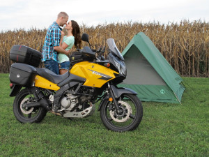 Did You Ever Have A Romantic Dating With Your Biker Girl In The Camping Tent