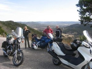 Motorcycle ladies have a ride touring along Twisted Lady Route